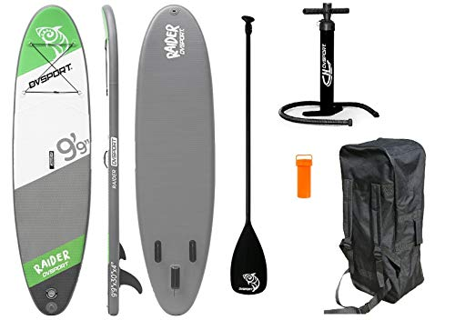 DVSport SUP RAIDER 300 x 75 x 10 cm Inflatable Isup aufblasbar Alu-Paddel Stand Up Paddle Board Set Pumpe Surfboard Aqua