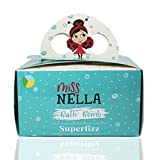 Miss Nella SUPERFIZZ, 3 Bath Fizzers pack for kids- Hypoallergenic & Fragrance Free, Safe & Fun. 3 colourful bath bombs- Sun Kissed- Yellow, Mermaid Blue, Kiss The Frog- Green.