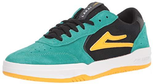 Lakai Footwear Mens Atlantic Skate Shoe, JADE/BLACK SUEDE 5 medium US