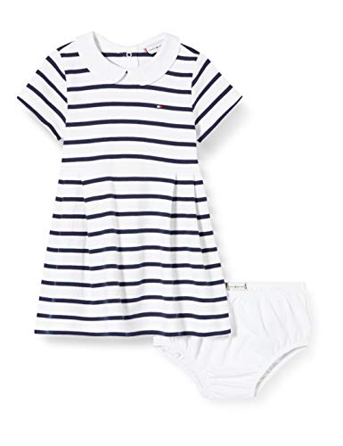 Tommy Hilfiger uniseks-baby bloes Baby Girl Rugby Stripe Dress S/s