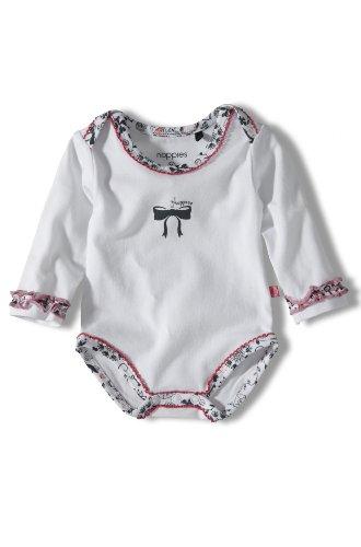 Noppies - Body para niña blanco de 95% algodón 5% elastano, talla: 62cm (3-6 meses)