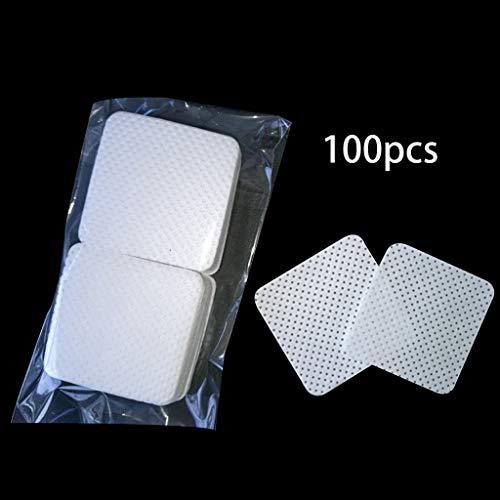 S-TROUBLE 100 Pcs/Sac Jetable Extension de Cils Colle Suppression Coton Pad Bouteille Bouche Lingettes Patches Maquillage Cosmétique Outil De Nettoyage