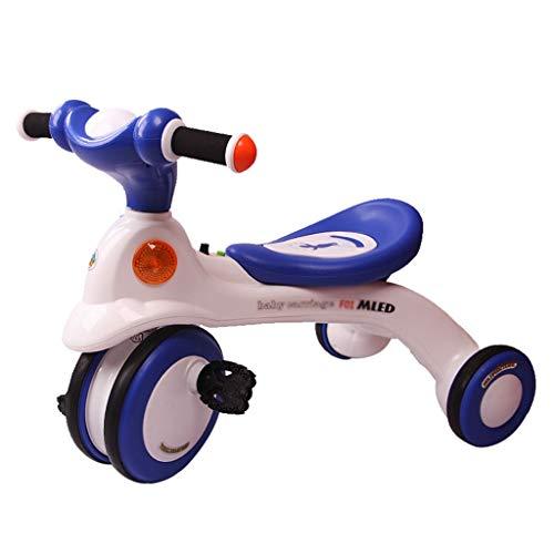 Xing Hua Home Landaus Tricycle pour Enfants 1-2-3-6 Ans, Vélo d'enfant Chariot d'enfant en Plein Air Design Anti-pincement 25kg (Color : Blue, Size : 65 * 39.5 * 49.5cm)