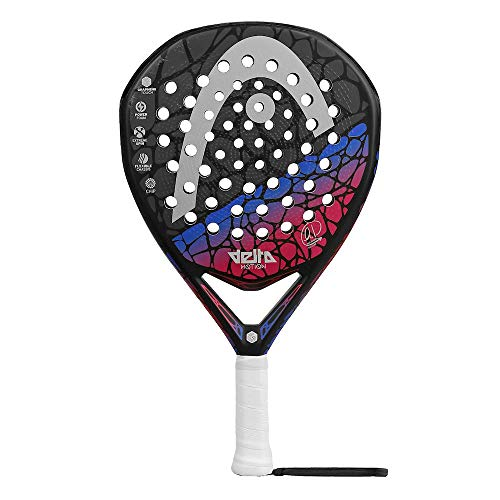 Head Pala Padel Graphene Touch Delta Motion Blue, Adultos Unisex, Negro Azul, 38 mm