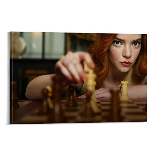 DRAGON VINES Póster de Ajedrez del Gambito de la Reina Beth Harmon (60 x 90 cm)