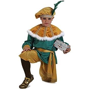 Disfraz paje del rey Melchor infantil. Talla 5/6 años.: Amazon.es ...