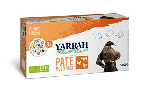 YARRAH Multipack Bio Pate für Hunde, 4er Pack (4 x 900 g)