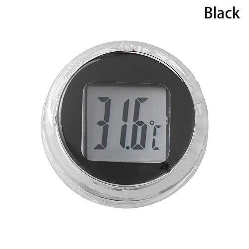 Neu Mini! Interieur Typ einfügen Thermometer für Motorrad Digitale Instrumente Temperatur Meter(Black)