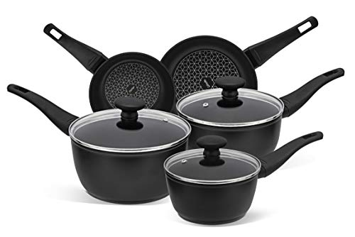 Prestige – Thermo Smart – Pots and Pans Set – 5 Piece Cookware Set Non Stick – Induction, Gas and Electric Hobs