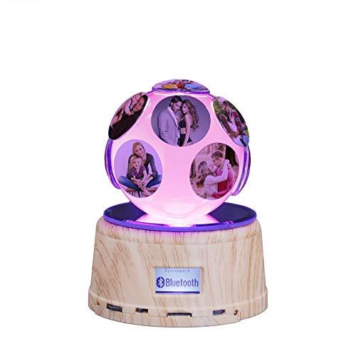 Lámpara de foto de luz nocturna personalizada con bola de cristal 3D Lámpara de mesa con luz de música Bluetooth(6 Photo)