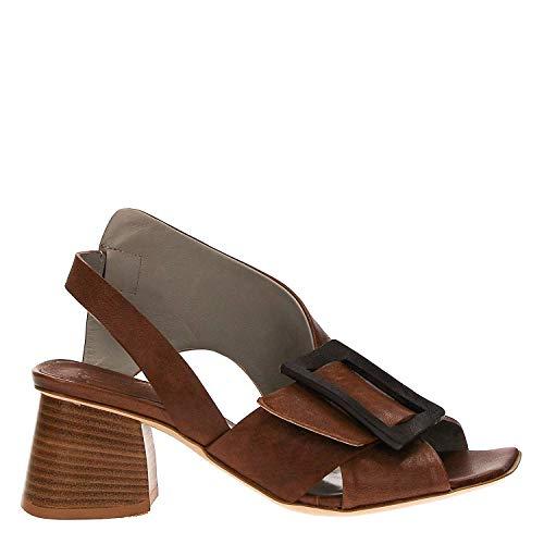 IXOS Sandale Glattleder braun Damen Art X17E65070 Made in Italy (Absatzhöhe; cm 5) (37 EU)