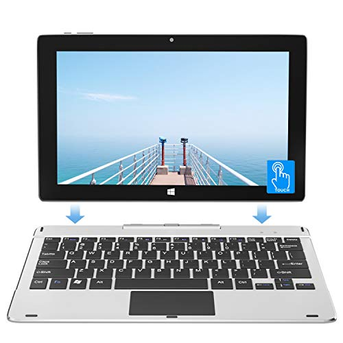 Jumper 11.6 inch FHD Laptop Touch Screen 6GB 128GB SSD Windows 10 Ultrabook Tablet PC 2 in 1 Intel Celeron Quad Core Processor Supports 256GB TF Card Expansion