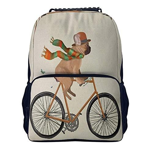 Mochila de hombro de 16 pulgadas para perro Bulldog francés regalo amante gif 40x28x16cm viaje portátil mochila para hombres mujeres