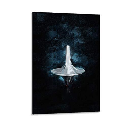HAIMIAN Póster temático de Incepción de la película Spinning Top Posters Impresión sobre lienzo para habitación estética y decoración de dormitorio familiar 50 x 75 cm