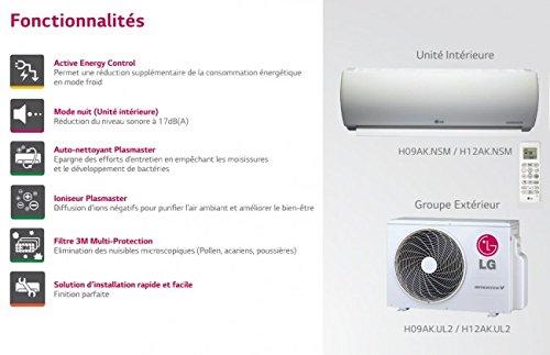 Super Climatizzatore LG monosplit PRESTIGE HYPER INVERTER H09AL.SSM, 2,5 kW, per 30 metri quadrati max