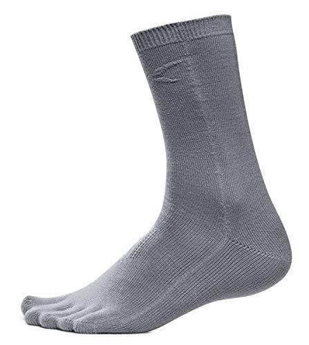 Zehen Taschen Socken high Farbe Grau, Größe L