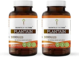 Plantain 120 Capsules(2 pcs.), 1000 mg, Organic Plantain (Plantago Major) Dried Leaf (2x120 Capsules)