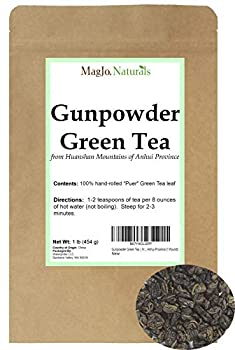Gunpowder Green Tea | From China | Hand-rolled from Huangshan Mountains in Anhui Province  1 Pound