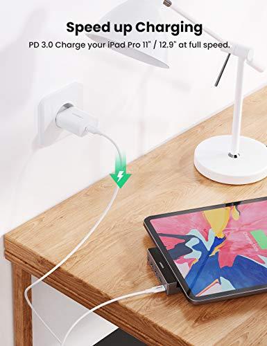 UGREEN USB-C Hub kompatibel mit iPad Pro, 4K@60Hz HDMI USB C Adapter für iPad Pro mit USB 3.0, 3.5mm Audio, Power Delivery