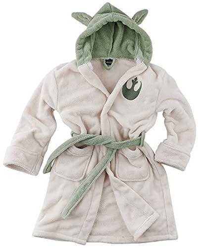 Groovy Star Wars Hombre Bata beige/verde L, 100% poliéster, seitlichen Eingrifftaschen, Stickerei