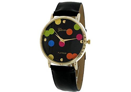 Geneva Geneva Platinum Dots - Reloj Color Negro