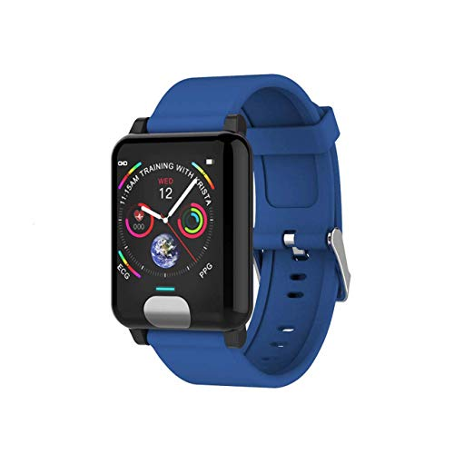 Schrittzähler Farbbildschirm ECG Smart Armband ECG + PPG Test IP67 Wasserdichtes 1,3 Zoll elterliches älteres Armb (A)