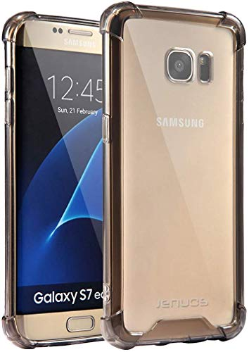 Jenuos Funda Samsung S7 Edge, Transparente Suave Silicona Protector TPU Anti-Arañazos Carcasa...