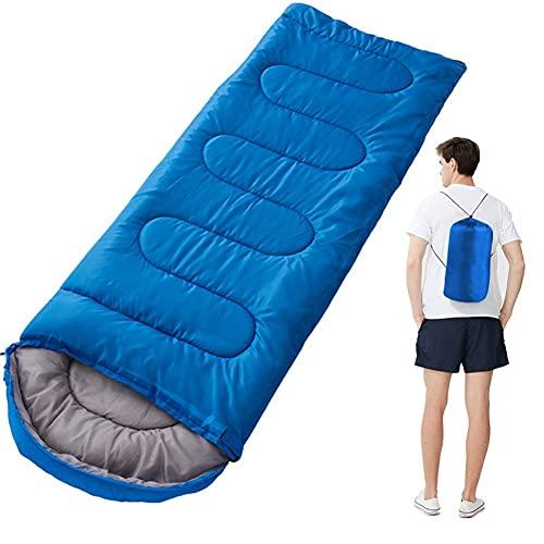 Saco de dormir cálido para adultos, ligero, saco de dormir para adultos, niños, para interior y exterior, mochila de camping
