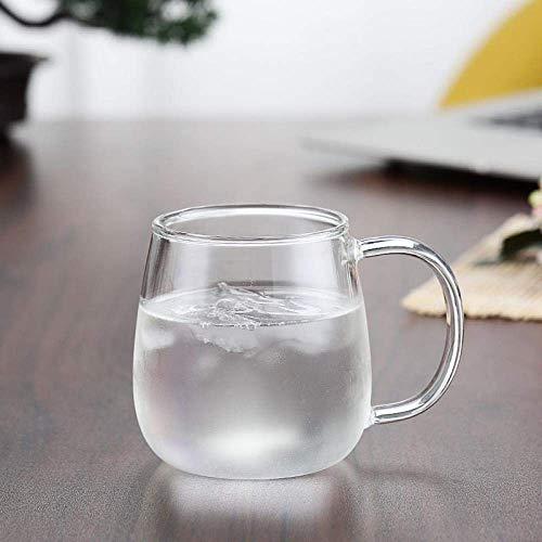 WYYHYPY Alto borosilicato Pyrex Cup Coffee Breakfast Cup, Oro, 401-500ml Tazas (Color : White, Size : 401500ml)