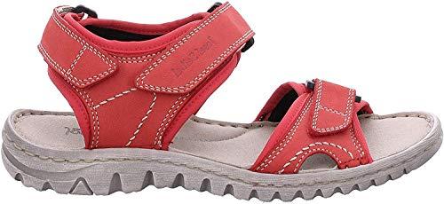 Josef Seibel 63815 Lucia 15 Damen Trekking Sandalen,Outdoor-Sandale,Sport-Sandale,Aussensteg,3-Fach Klett,Rubin,38 EU