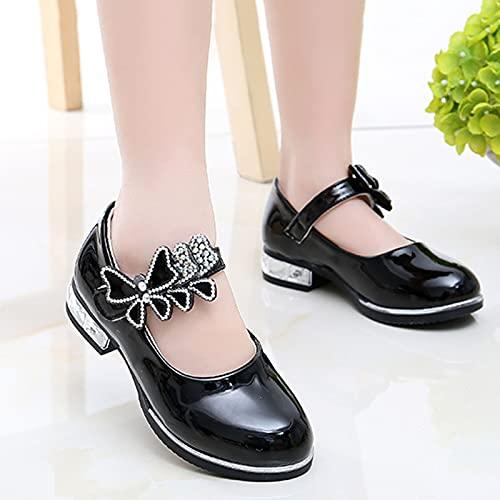 Zapatos para Niños, Zapatos De Cuero para Niñas, Zapatos De Rendimiento, Suelas Blandas, Zapatos Individuales para Niños, Zapatos De Princesa Blanca para Estudiantes.