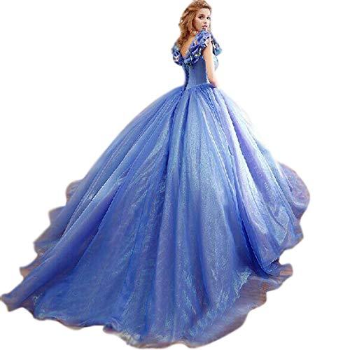 vipgowns Princesa para Mujer Cosplay Reina Traje Medieval Halloween Carnaval Vestido de Cenicienta Vestido de Noche Vestido de Fiesta