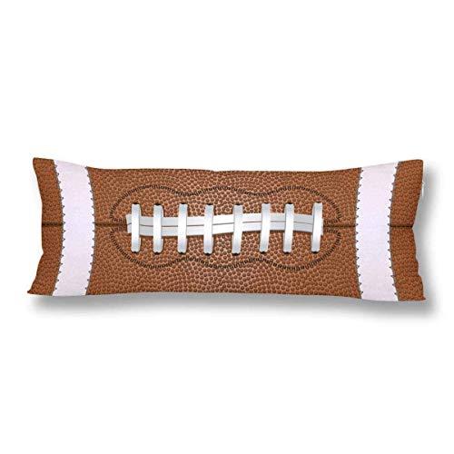 CiCiDi Kissenbezug US-amerikanischer American-Football-Ball Sportball Maschinenwäsche mit Reißverschlüssen Mutterschafts- / Lange Kissenbezug Myiw023