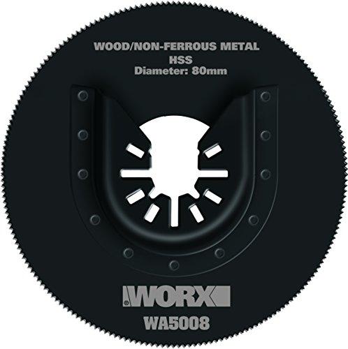 Worx WA5008 Lama circolare diam. 80mm, per taglio Legno, plastica, PVC, metalli non ferrosi per Multifunzione Sonicrafter WX678/679/680/681/693