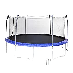 Skywalker Trampolines 17' Oval Trampoline with Enclosure and Wind Stakes