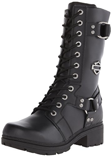 Harley-Davidson Women's Eda Motorcycle Boot, Black, 8 M US