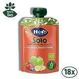 Hero Solo - Frutta Frullata 100% BIO - Mela, Banana, Fragola e Mirtillo - 18 Confezioni da...
