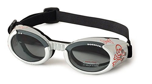 Doggles – ILS Silver Skull Frame with Light Smoke Lens