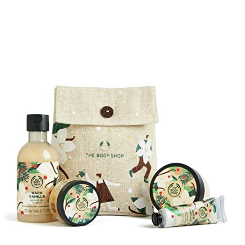 The Body Shop Warm Vanilla- 4pc small Gift box with sweet and creamy, 1 Count