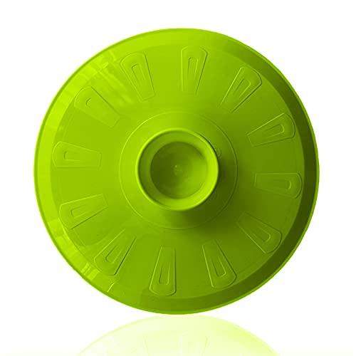 Tapa volteatortillas 26cm, tapa para sartén y para voltear tortilla de patatas, giratortillas de plástico para microondas, frigorífico, congelador, lavavajillas, tapa girar tortilla (25,5, Verde)