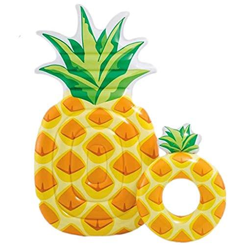 Kengsiren Obst Schwimmende Reihe Verdickt Aufblasbare Ananas Schwebebett Für Erwachsene Wasser EIS Schwimmen Freizeit Luftkissen Liegestuhl