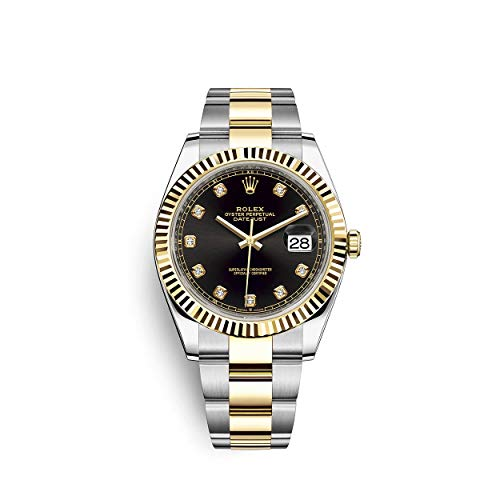 Rolex Datejust 41 Two Tone Oystersteel and 18k Yellow Gold/Oyster Bracelet / 126333-0005 / Black Diamond Dial