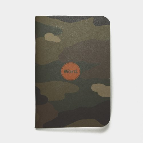 Word. Notebooks Traditional Camo - 3-Pack Small Pocket Notebooks Photo #2