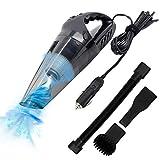 HiKiNS Aspirador de Coche 2200 mAh Aspirador de automóvil con 7000 Pa 14,8 V Potente aspiradora de aspiración Limpia, batería Recargable Aspirador de Mano portátil para automóvil