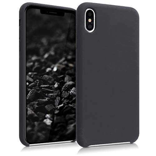 kwmobile Hülle kompatibel mit Apple iPhone XS Max - Handyhülle gummiert - Handy Case in Schwarz matt
