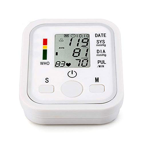 QIN Blood Pressure Monitor - Automatic Upper Arm Machine & Digital Adjustable Digital BP Cuff Kit, Pulse Rate Monitoring Meter, Blood Pressure Machine with HD Display Used by Professionals And Home Us