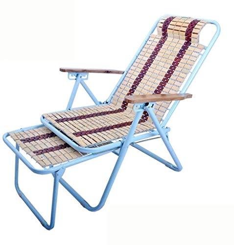 Aoyo Silla de Playa Plegable, Bambú Masaje, Siesta, Cama, Silla, Chaise, for al Aire Libre, Patio, Jardín, Acampar