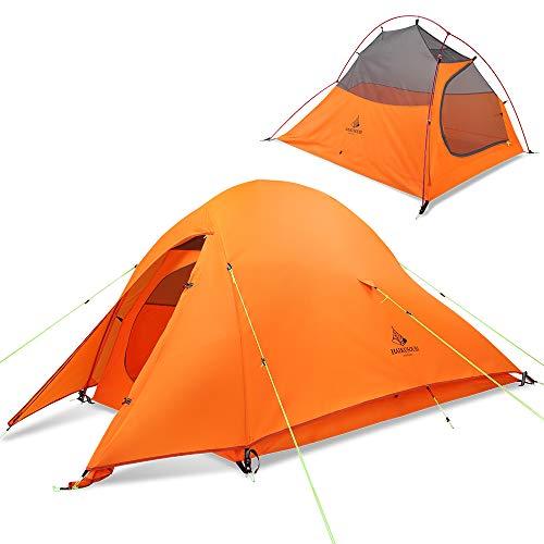 HAIKUSOUBI テント 2人用 アウトドア 二重層 自立式 超軽量 4シーズン アウトドア ソロテント キャンピング 登山テント 20D/210T PU3000/4000 収納コンパクト 防風 防水 防災 収納袋付