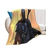 Manta suave y ligera para sofá de cama y sala de estar, adecuada para Star Wars The Mandalorian Season 2, manta de supervivencia y primeros auxilios, 60 x 80 pulgadas, 150 x 200 cm