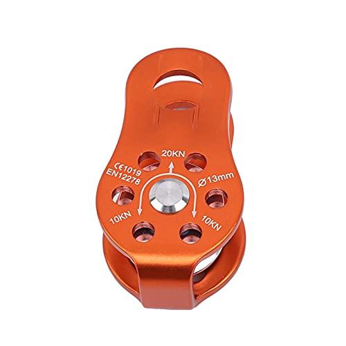 SIEYS Outdoor-Reise-Kits, Universal-Klettern-Seilscheibe, einzelne Feste Bergsteiger-Seil-Klettern-Absperrungsausrüstung, Erholungszubehör für das Abschleppen (Color : Orange)
